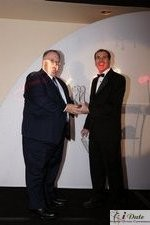 Rich Orcutt (Iovation) receiving the Best New Technology Award at the 2010 Internet Dating Industry Awards in Miami