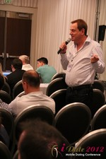 Audience questions during the Keynote session at the 2012 Internet and Mobile Dating Industry Conference in California
