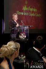 Julie Ferman, four time winner of Best Dating Coach at the 2013 iDateAwards Ceremony in Las Vegas held in Las Vegas