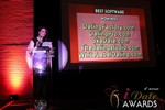 Maria Avgitidis announcing the Best Dating Software and SAAS at the 2013 Internet Dating Industry Awards Ceremony in Las Vegas