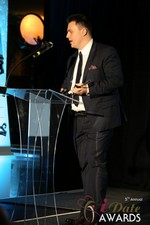 Maciej Koper of World Dating Company (Winner of Best New Technology) at the 2014 Las Vegas iDate Awards Ceremony