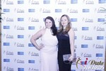Genevieve Zawada and Sarah Ryan in Las Vegas at the January 15, 2015 Internet Dating Industry Awards